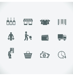 Modern shopping icon vector