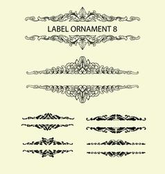 Label ornament 8 vector image