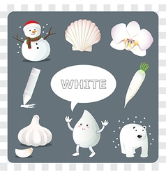 White color on gray background vector