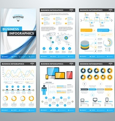 Infographics Concept Set of Business Infographic vector image