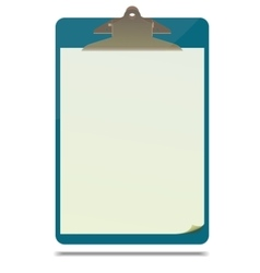 Clipboard with blank paper sheet vector