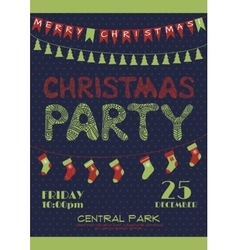 Christmas party invitation poster vector