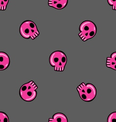 Doodle seamless pattern with skull - 3 vector