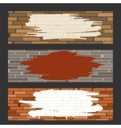 Brick Wall set vector image