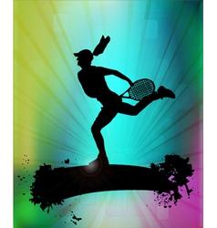 Modern tennis vector