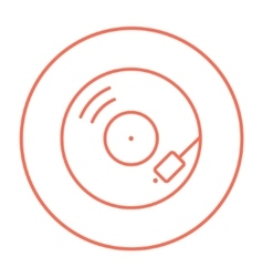 Turntable line icon vector