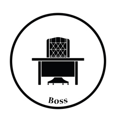 Icon of table and armchair vector