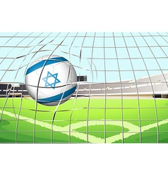 A ball with the flag of Israel vector image vector image