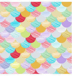 abstract colorfull wave seamless pattern the vector image vector image
