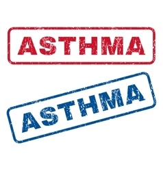 Asthma rubber stamps vector