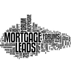 Best inexpensive mortgage leads text background vector