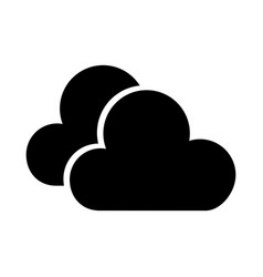 Black icon cloud cartoon vector