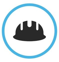 Builder hardhat flat icon vector