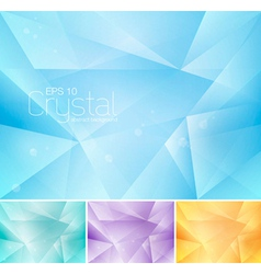 Crsytal abstract background vector