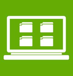 desktop icon green vector image
