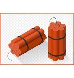 Dynamite bomb isometric flat vector image
