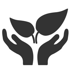 Eco startup icon vector