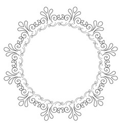 Elegant victorian with circular shaped frame vector