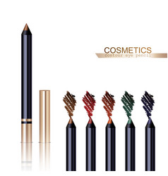 Eye Pencil Set vector image vector image