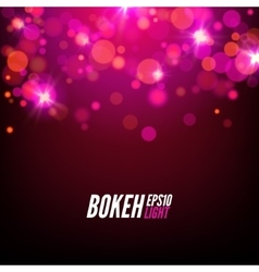 Festive Colorful bokeh background lights Abstract vector image