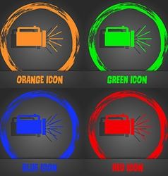 Flashlight icon sign fashionable modern style in vector