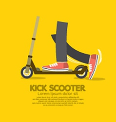Flat Design Kick Scooter vector image