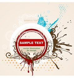 Grunge frame for design vector