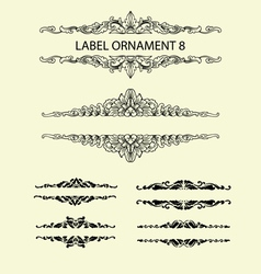Label ornament 8 vector