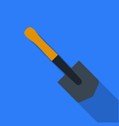 Military entrenching tool icon in flat style vector