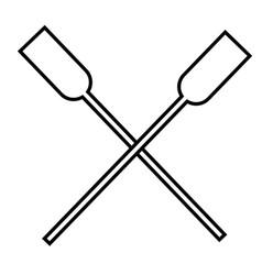 oars icon vector image vector image