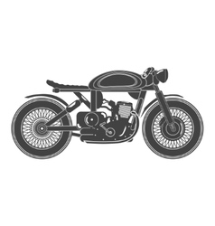 Old vintage motorcycle cafe racer theme vector image
