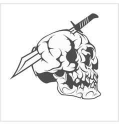 Pirate Skull in with Sword vector image vector image