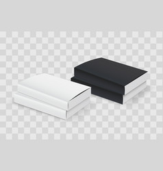 Realistic book blank cover set black and white vector