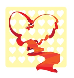 Red Heart Band vector image