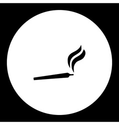 smoking joint cannabis hemp simple black icon vector image