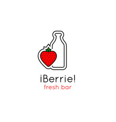 smoothie bar minimalistic logo vector image vector image