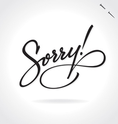 SORRY original custom hand lettering vector image