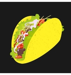 Symbol taco fast food vector