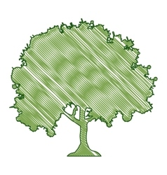 Tree doodle icon image vector