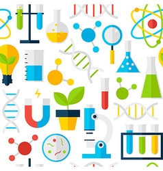 White seamless pattern science education vector