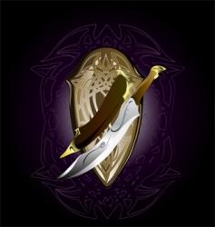 dagger vector image