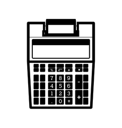 Monochrome calculator without paper print vector