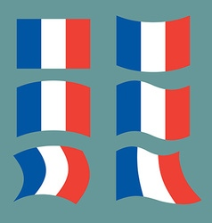 Flag of France Set national flag of French state vector image