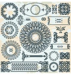 pattern on blot background vector image