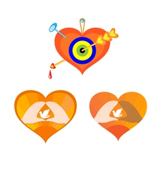 Three hearts as elements for design vector