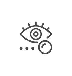 Eye lens line icon vector