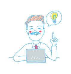 business concept having a good idea vector image