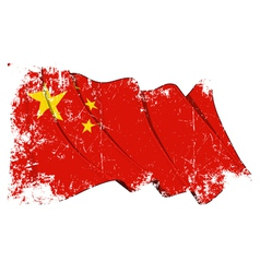 China flag grunge vector