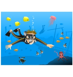 Scubadivers vector