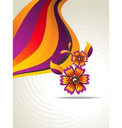 abstract flower art vector image